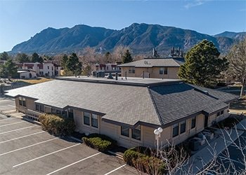 Country Club Office Park with Cheyenne Mountain in the background - Featured Project