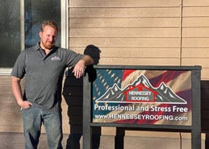 Stephan Millard Professional Headshot at Hennessey Roofing in Colorado Springs